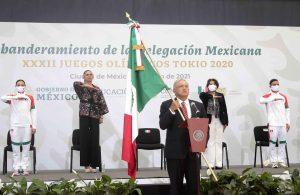 Abanderamiento de la Delegación Mexicana, XXXII Juegos Olímpicos Tokio 2020